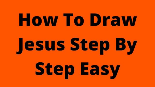 How To Draw JesusStep By Step Easy